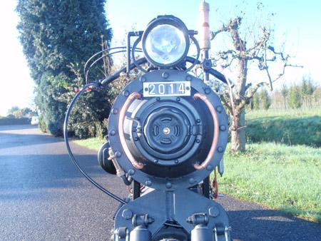 Black Pearl Steam Engine Motorcycle