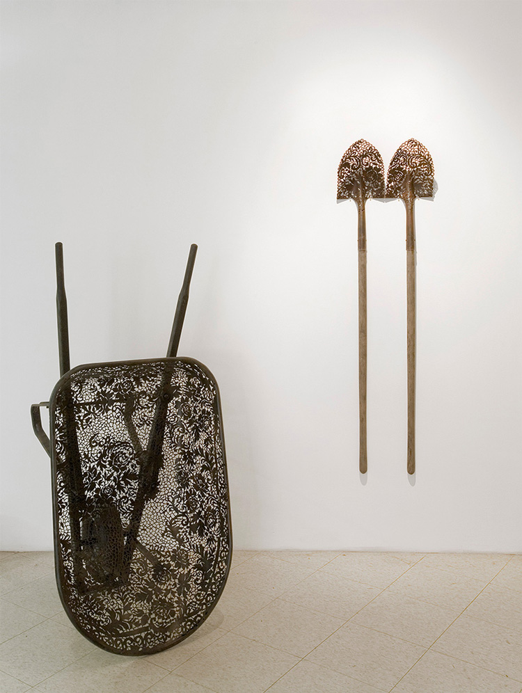 Delicately Patterned Metal Object Sculptures by Cal Lane