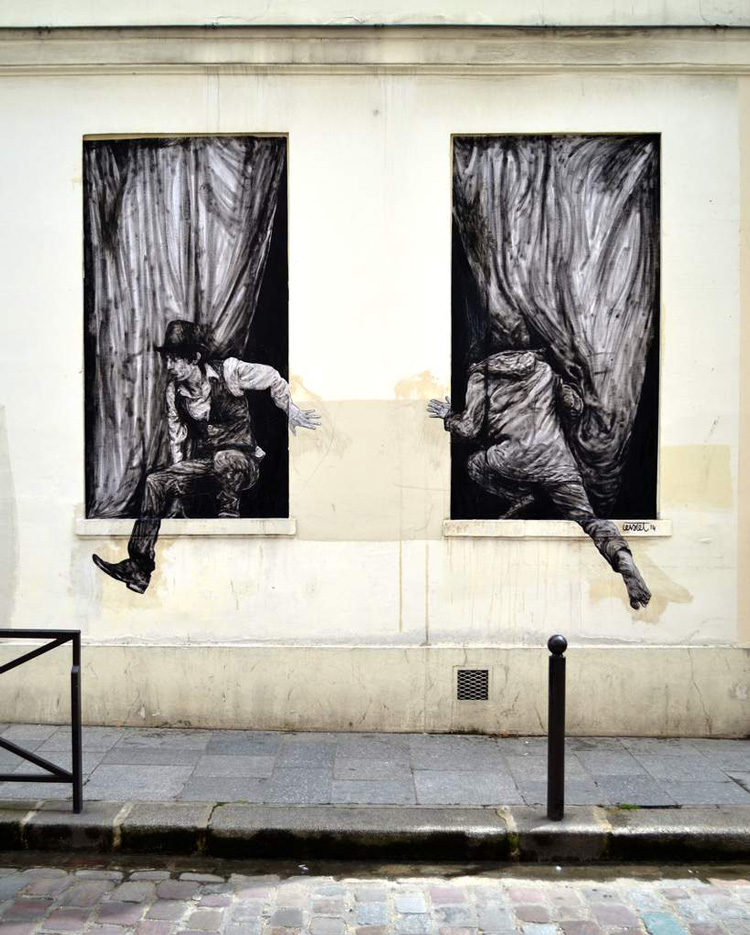Playful Street Art Installations by Charles Leval