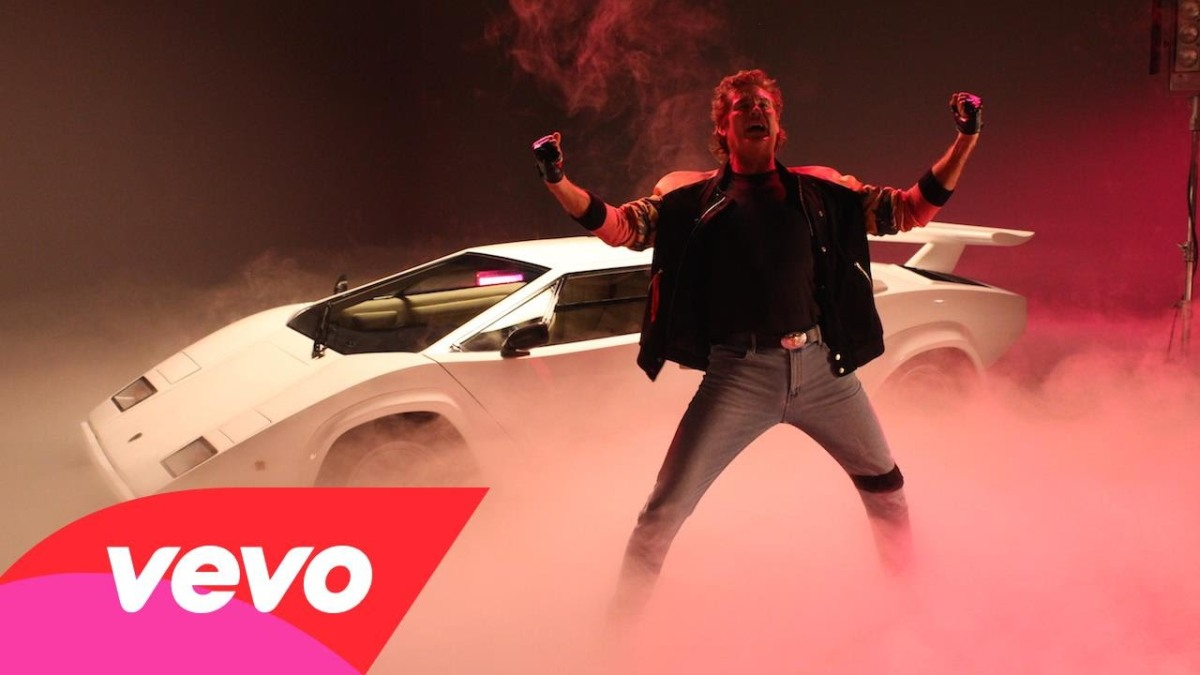 David Hasselhoff Rides a T-Rex in His Music Video for ...