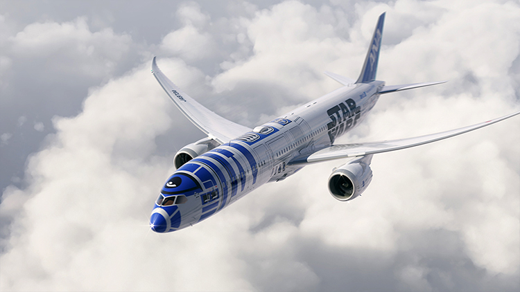 R2-D2 Star Wars Dreamliner Jet