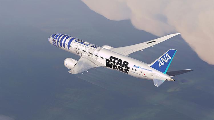 R2-D2 Star Wars Dreamliner Jet