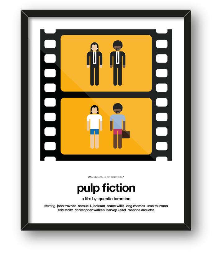 Pictogram Minimalist Movie Posters by Viktor Hertz