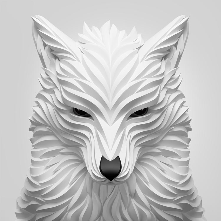 3D Animal Illustrations by Maxim Shkret