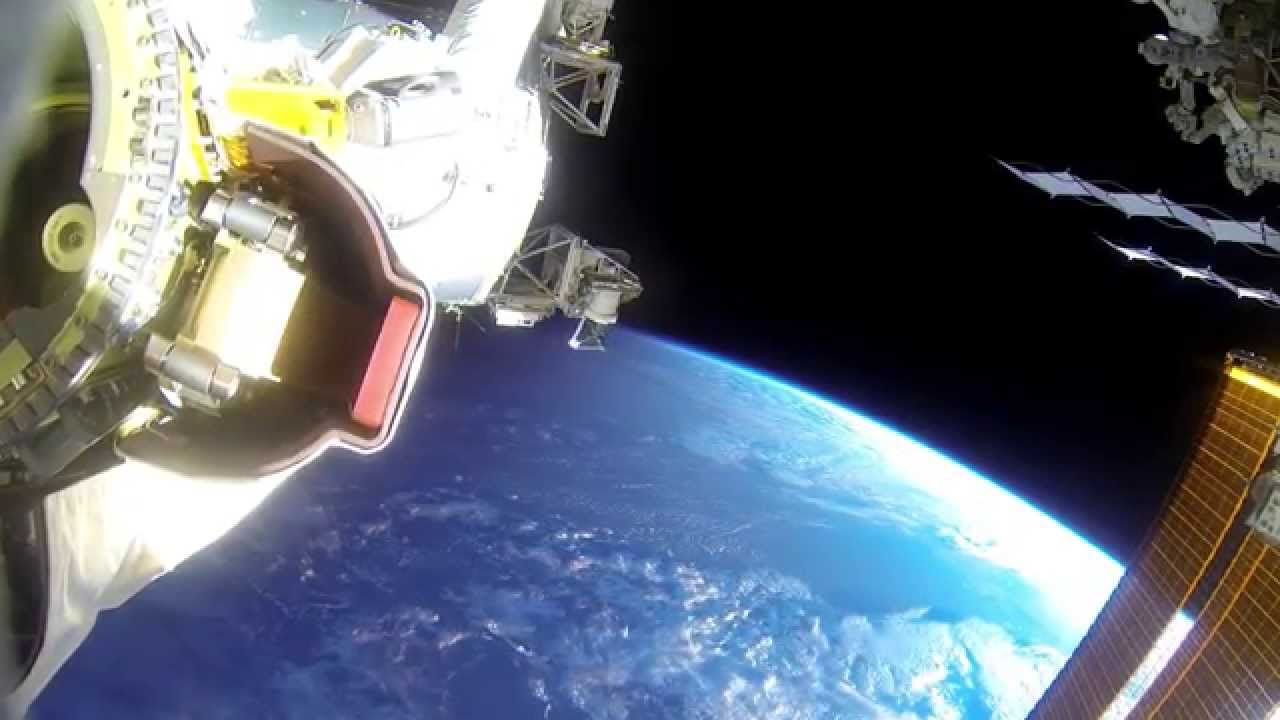 Gopro Footage Captured During A Spacewalk Outside The
