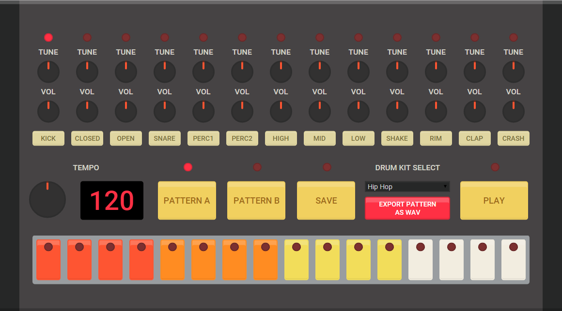 easy to use drum machine