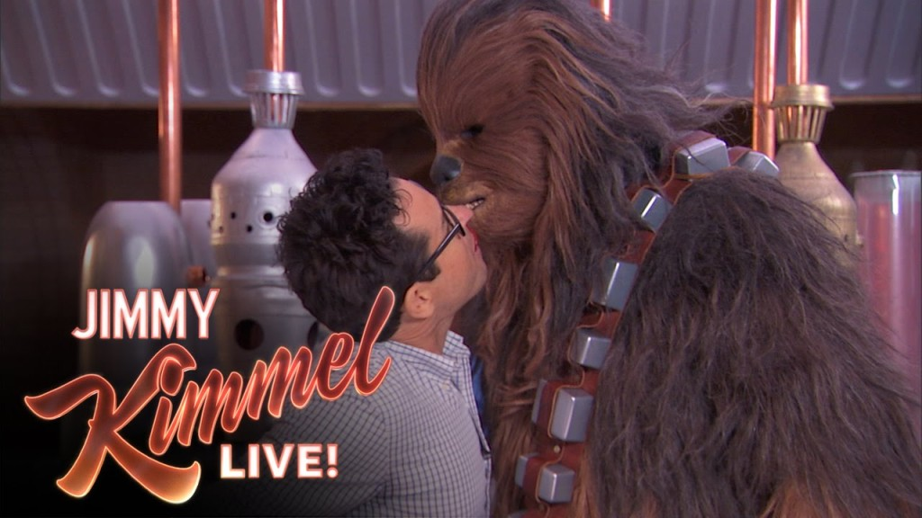J.J. Abrams & Chewbacca Take the #TwizzlerChallenge for Autism Awareness Month & Nearly Kiss on 'Jimmy Kimmel Live'
