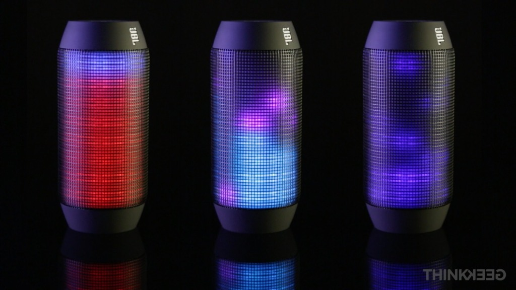 JBL Pulse, A Portable Bluetooth Speaker Covered in a Programmable LED Light Show