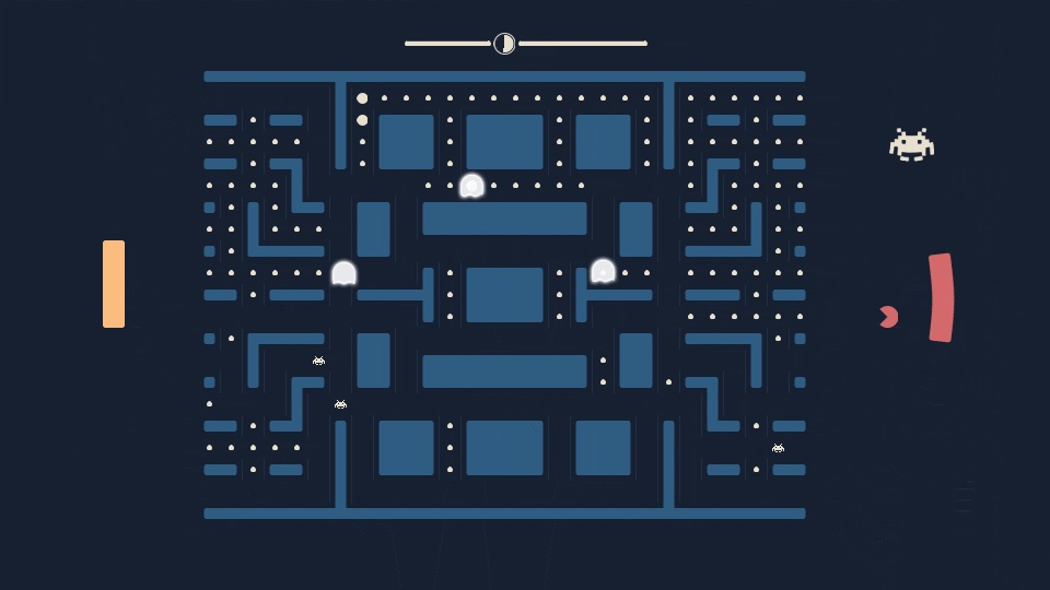 'Pacapong', 'Pac-Man', 'Pong', and 'Space Invaders' Combined Into One Two-Player Game