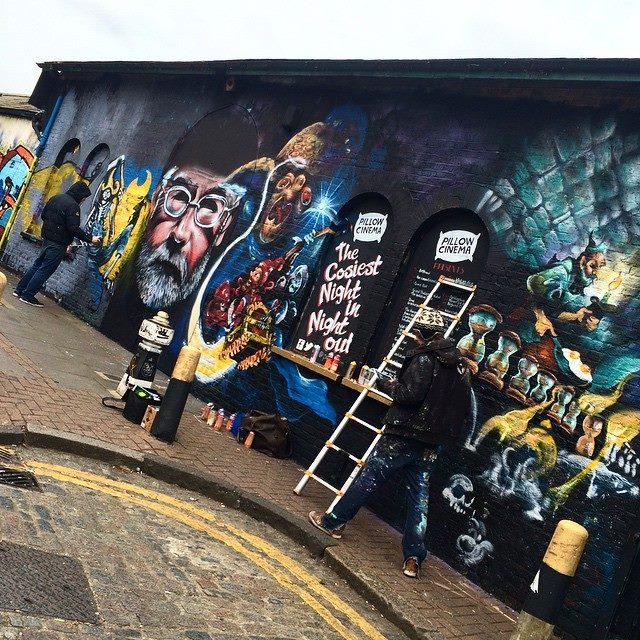 Terry Pratchett muralists working