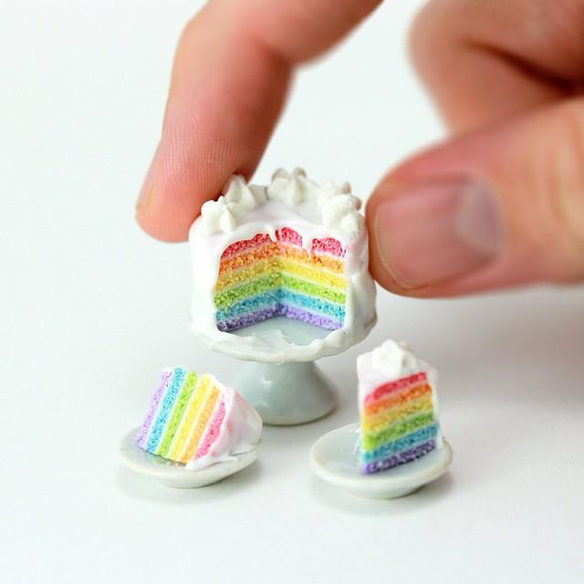 Miniature rainbow cake