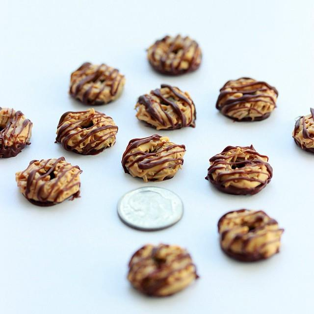 Miniature Girl Scout cookies