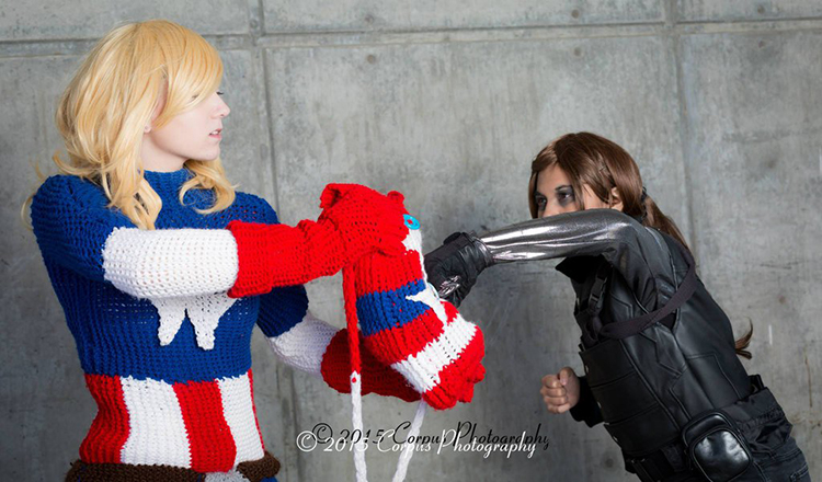 Knitted Captain America