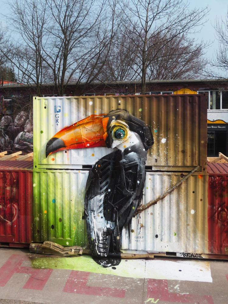 Toucan Street Art by Artur Bordalo