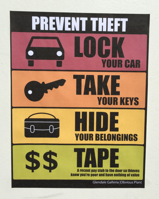 Insane Theft Prevention Tips by Obvious Plant