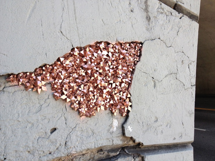 Urban Geode Street Art by Paige Smith