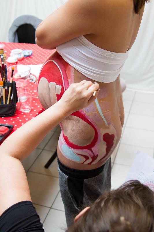 Belly paint in progress