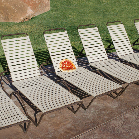 pizza on lounger