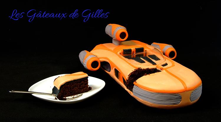 Star Wars X-34 Landspeeder Cake