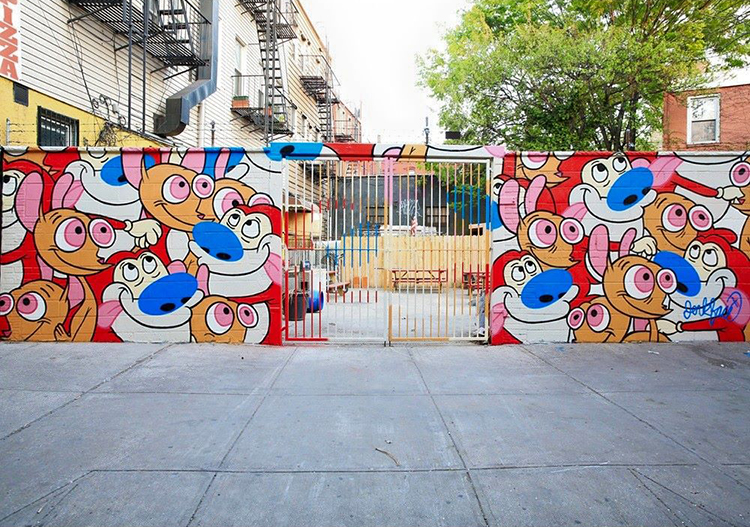 Ren and Stimpy Mural