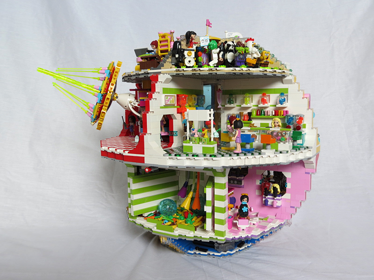 The Star Wars Lego Death Star Playset Reimagined With A Beautiful