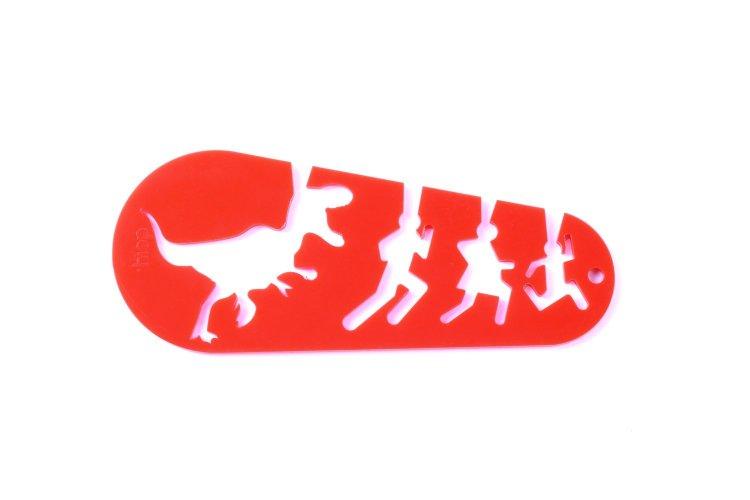 Tyrannosaurus rex spaghetti measuring tool no pasta