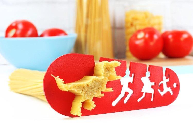 Tyrannosaurus rex spaghetti measuring tool