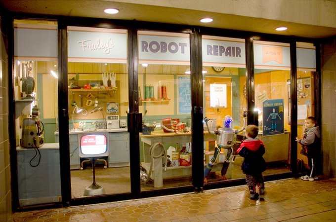 A Kickstarter Campaign to Help Place an Imaginative Robot Repair Shop Art Installation in Pittsburgh Airport