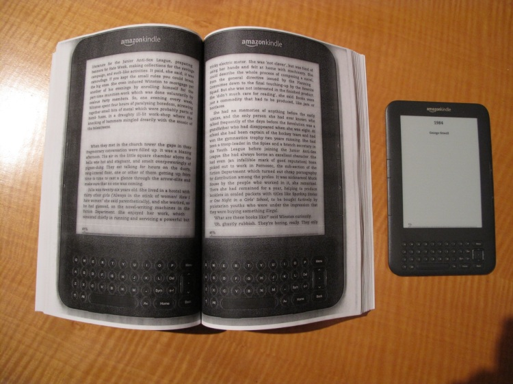 'E-Book Backup', A Photocopied Hardbound Edition of a Kindle E-Book
