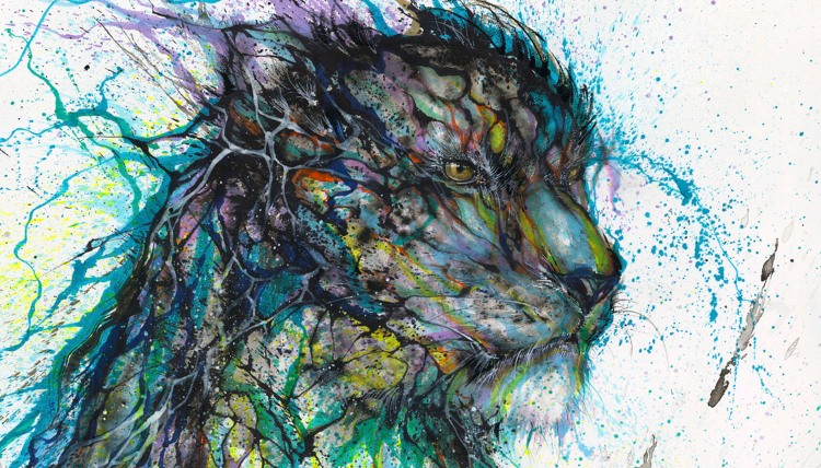Gorgeous Paint Splatter Portraits That Capture the Elegantly Pensive Nature of Animals in the Wild