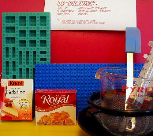 LEGO gummy tools