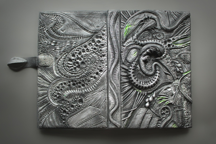 Gray Polymer Clay Journal