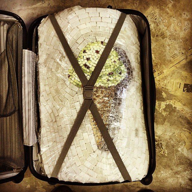 Ice Cream Cone in Suitcase