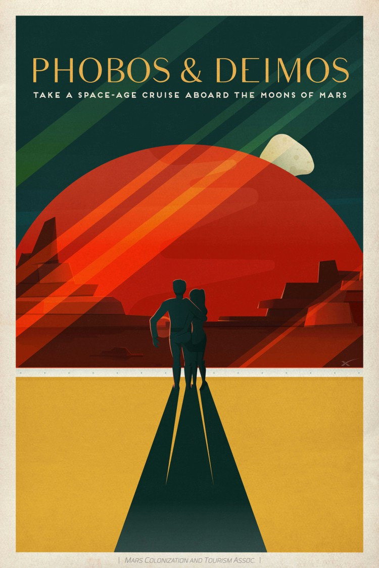 SpaceX Mars Poster 2