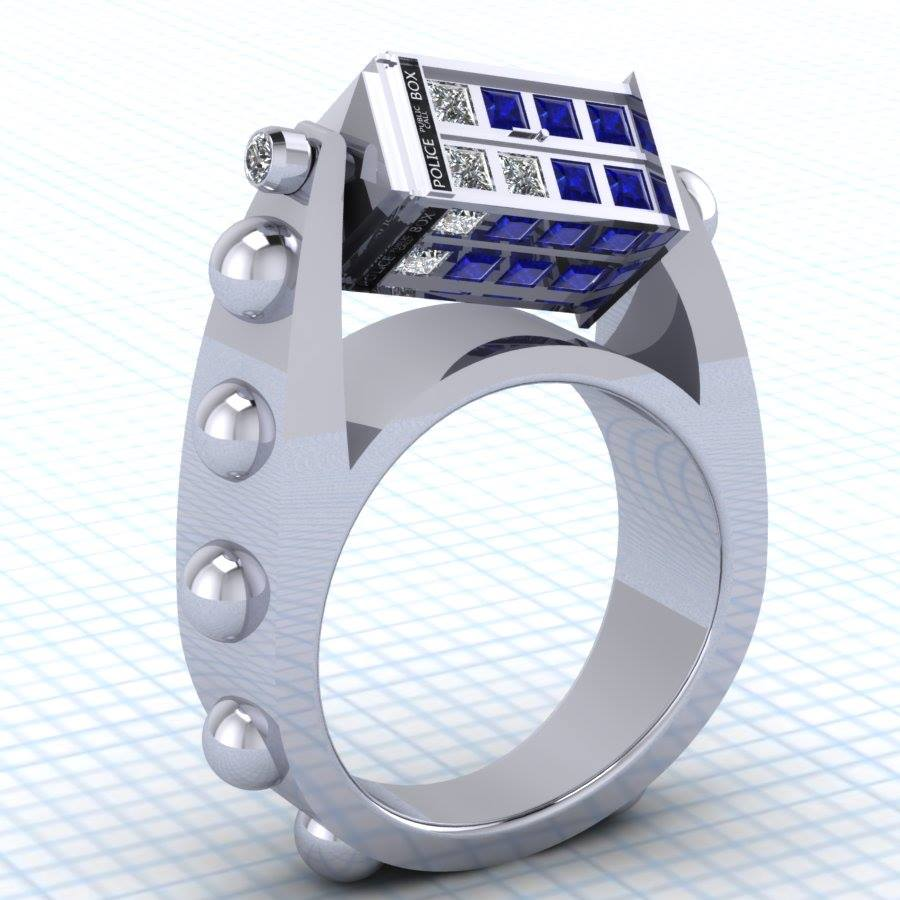 Elegant Custom Science Fiction-Themed Jewelry Crafted With