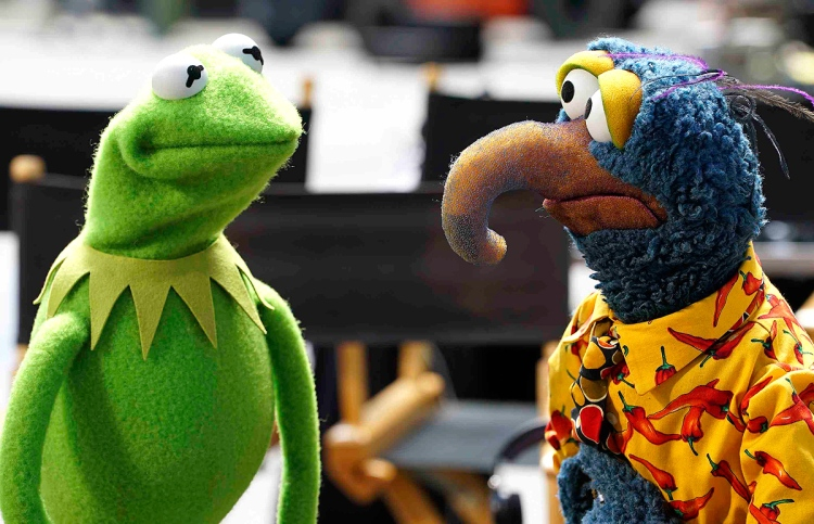 Kermit the Frog and Gonzo from the new ABC Muppets series