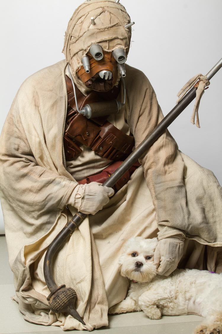 Tusken Raider and White Dog
