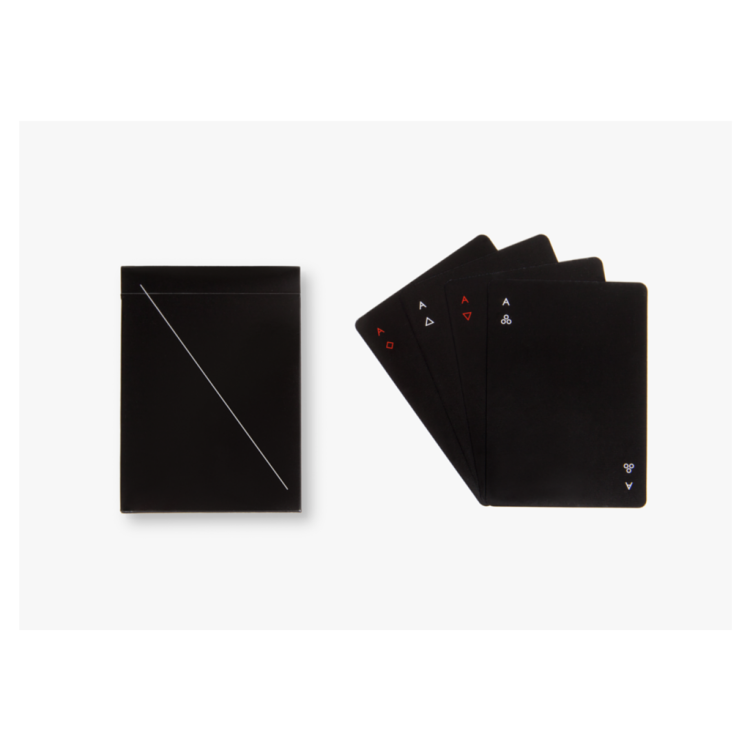 Minim playing cards black