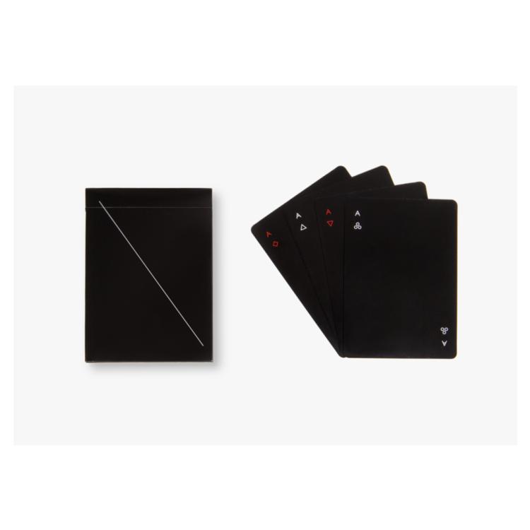 Minim playing cards black