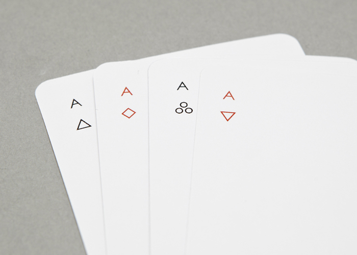 Minim playing cards aces
