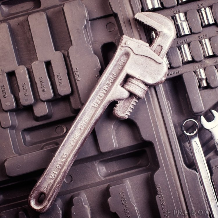 Chocolate Stillson wrench