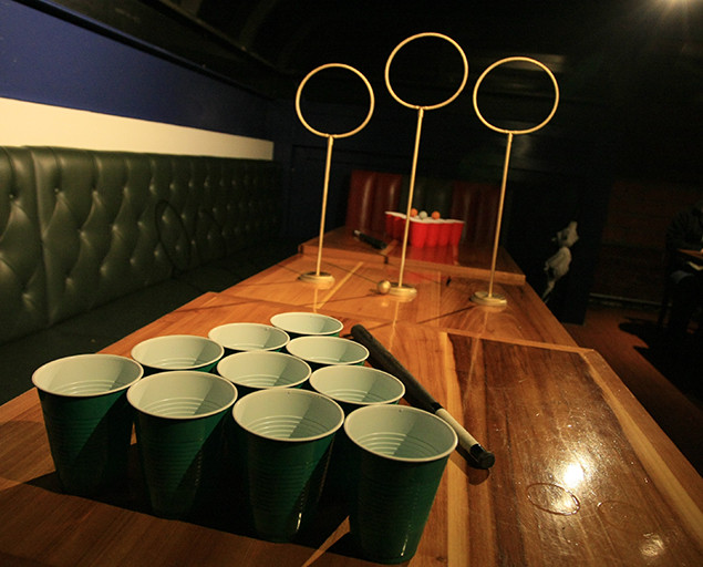 The Unofficial Quidditch Pong Set Combines Beer Pong With