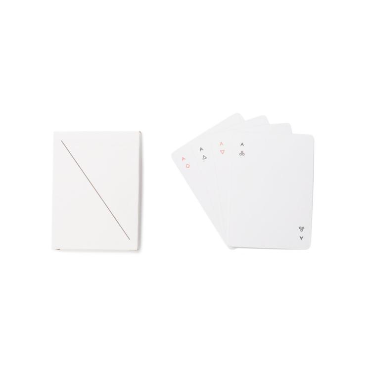 Minim playing cards white