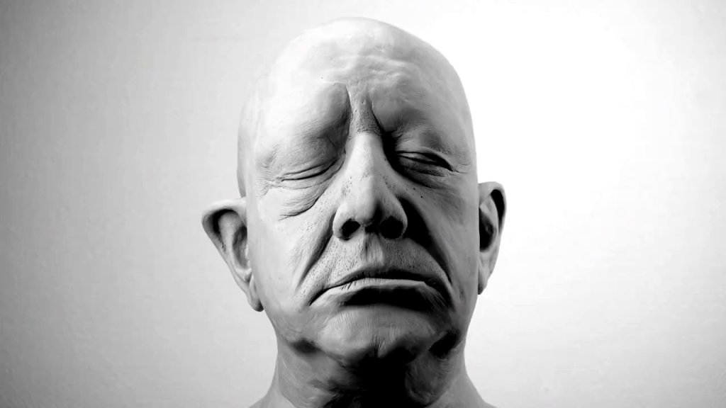 A Creepy Stop-Motion Animation of a Deconstructing Clay Head