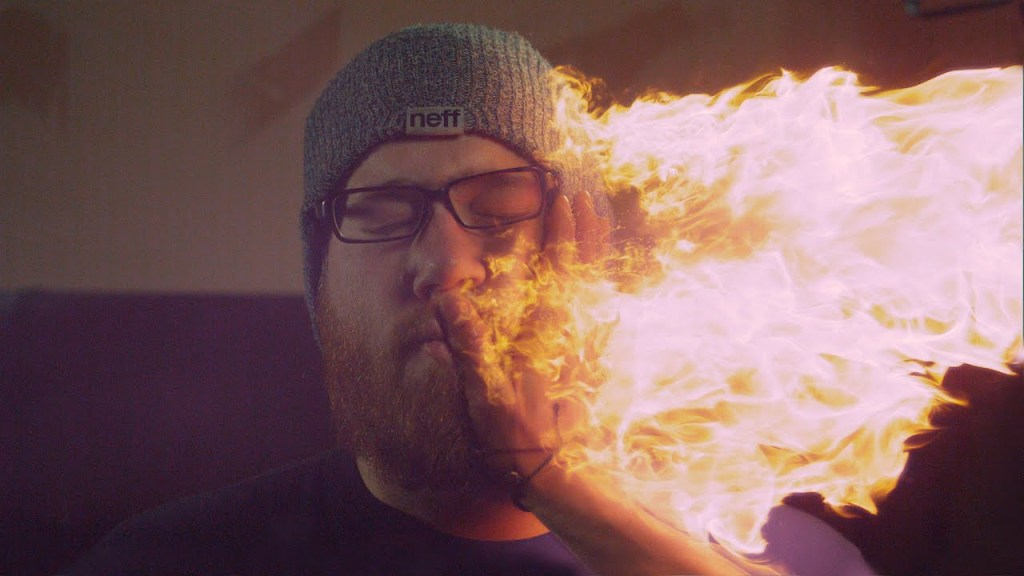 A Fantastic Montage of a Fire Slap and Other Slow-Motion Stunts by Kuma Films