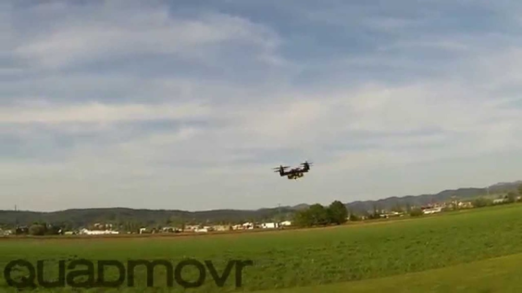 Astonishing Videos of a High-Performance Quadcopter Performing High-Speed Passes and Acrobatic Tricks