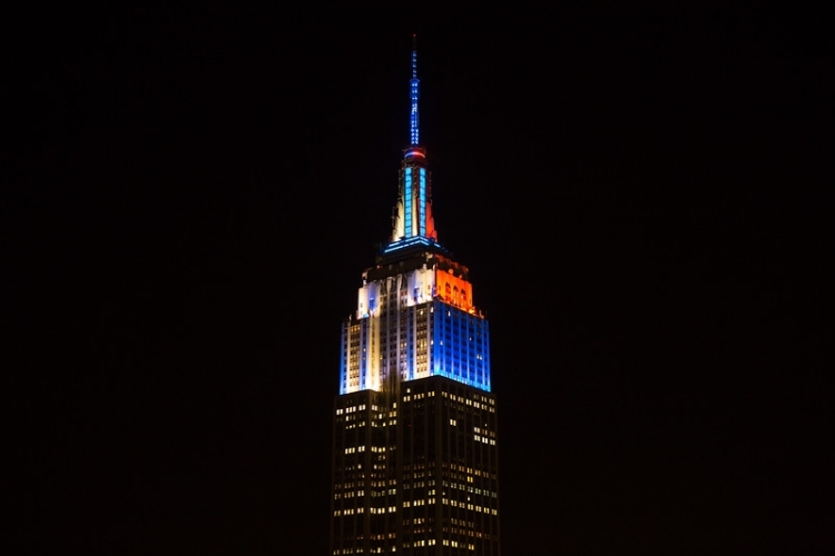 Empire State Building Light Show for Whitney Museum