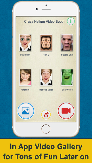 Crazy Helium Video Booth, A Camera App That Distorts Faces and