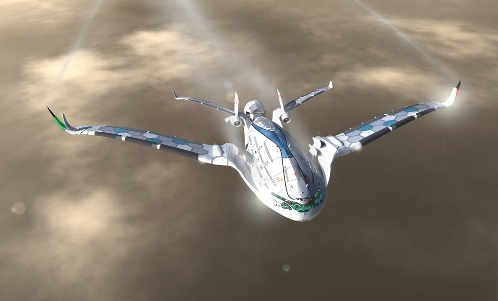 Progress Eagle, A Solar-Powered Airliner Concept for the Year 2030
