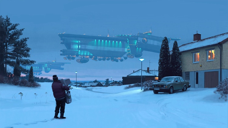 Retrofuturistic 80s Paintings by Simon Stalenhag